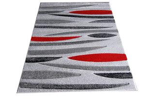 Kilimas Fantazija 01 Grey/red, 80x150 cm kaina ir informacija | Kilimai | pigu.lt