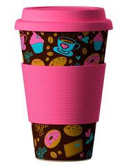 Bambukinis puodelis DONUTS (SPURGOS), 400 ml, 1 vnt.