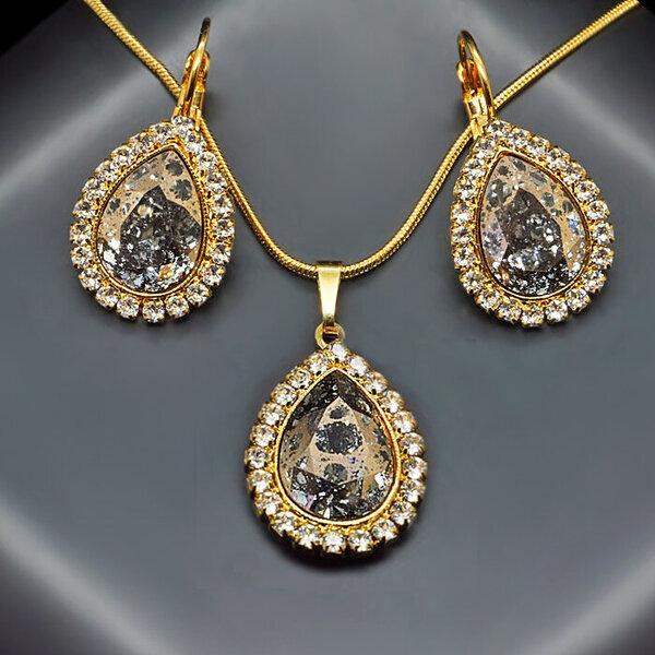 """Комплект ювелирных изделий для женщин DiamondSky """"Celestial Drop"""" с  кристаллами Swarovski 1eb723cd3cb"""