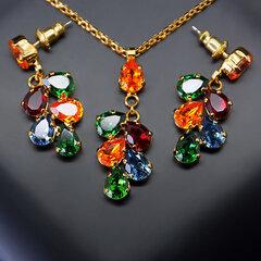 """Papuošalų rinkinys moterims DiamondSky """"Amber II"""" su Swarovski kristalais"""