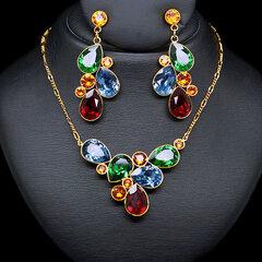 """Papuošalų rinkinys moterims DiamondSky """"Fillory Magic"""" su Swarovski kristalais"""