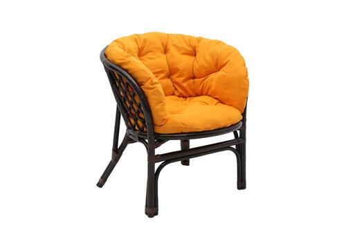 Pintas fotelis Bahama, rudas/oranžinis
