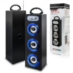 Mocco Tower Portable Speaker Bluetooth 4.0 / 15W / 360 Surround / Micro SD / USB / Remote / FM / Blue