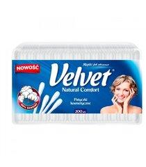 Kosmetiniai vatos krapštukai Velvet Natural Comfort 200 vnt