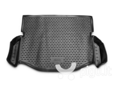 Guminis bagažinės kilimėlis TOYOTA Rav 4 2014-> (full-size wheel with pocket cross) black /N39048