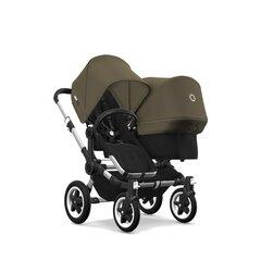 Bugaboo dvigubas vežimėlis Donkey² Duo, Alu&Olive Green kaina ir informacija | Vežimėliai | pigu.lt