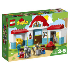 10868 LEGO® DUPLO Ponių arklidės ūkyje kaina ir informacija | Konstruktoriai ir kaladėlės | pigu.lt