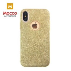 Mocco Gradient Back Case Silicone Case With Glittering For Apple iPhone X Gold kaina ir informacija | Telefono dėklai | pigu.lt