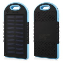 Mocco F1 Carabiner Solar Power Bank 6000mAh Universal Charger for Devices 5V 1A + Micro USB Cable Blue
