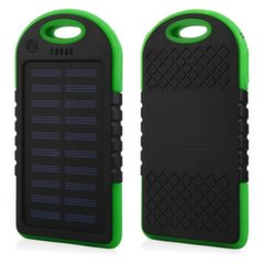 Mocco F1 Carabiner Solar Power Bank 6000mAh Universal Charger for Devices 5V 1A + Micro USB Cable Green