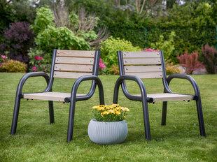 Kėdė Patio Park, ruda/pilka kaina ir informacija | Lauko kėdės, foteliai, pufai | pigu.lt