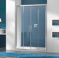 Dušo durys į nišą Sanplast TX D4/TX5b 170s, profilis baltas, dekoruotas stiklas grey