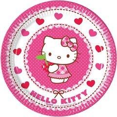 Vienkartinės lėkštutės Hello Kitty 19.5cm, 8 vnt.