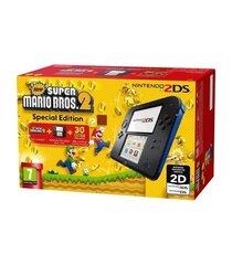 Nintendo 2DS + Super Mario Bros 2 Juodas