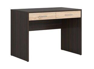 Rašomasis stalas Nepo 2S, rudos/ąžuolo spalvos kaina ir informacija | Kompiuteriniai, rašomieji stalai | pigu.lt