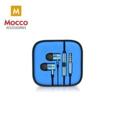 Mocco Metal Style Universal Headset with mic/remote / 3.5mm / 1.2m / Blue