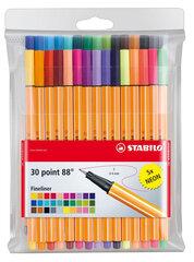 Rašikliai Stabilo POINT 88 30 spalvų kaina ir informacija | Kanceliarinės prekės | pigu.lt