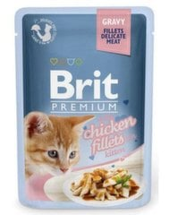 Konservai katėms Brit Premium Chicken for Kitten in Gravy, 85 g kaina ir informacija | Konservai katėms Brit Premium Chicken for Kitten in Gravy, 85 g | pigu.lt