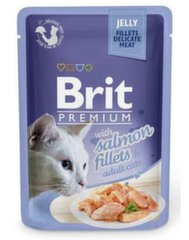 Konservai katėms BRIT PREMIUM Salmon in Jelly, 85g