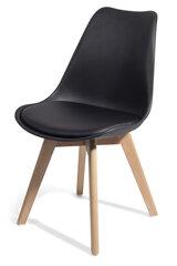 4-ių kėdžių komplektas Homekraft Brekka, juodas kaina ir informacija | Virtuvės kėdės | pigu.lt