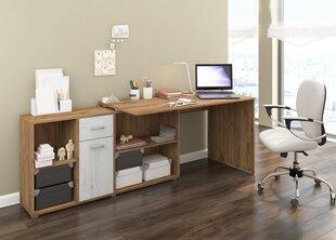 Rašomasis stalas Beat L, šviesiai rudas/baltas kaina ir informacija | Kompiuteriniai, rašomieji stalai | pigu.lt