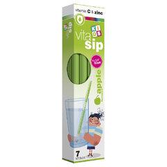 AC, VitaSip, tirpūs vitaminai geriami per šiaudelį, obuolių skonio, 7 vnt.