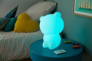 Lumin'us Teddy Bear Bluetooth Speaker By BigBen White