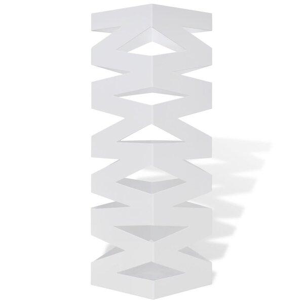 Baltas kvadratinis skėčių, vaikščiojimo lazdų stovas, plienas, 48,5 cm kaina