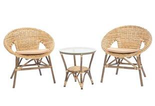 Lauko baldų komplektas Felicia, smėlio spalvos