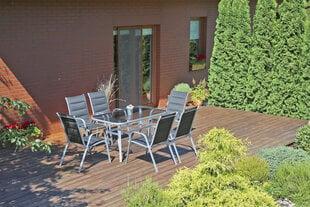 Lauko komplektas Toscana Alu Silver / Black 6+1 kaina ir informacija | Lauko baldų komplektai | pigu.lt