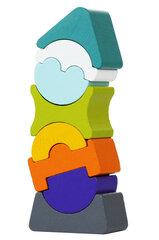 Набор деревянных кубиков Cubika ГИБКАЯ БАШНЯ 7