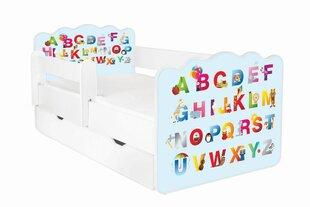 Lova su čiužiniu, patalynės dėže ir nuimama apsauga ALEX 21, 160x80 cm kaina ir informacija | Vaiko kambario baldai | pigu.lt