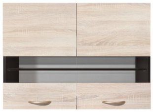Pakabinama spintelė Junona Line 80/57, rudos/ąžuolo spalvos kaina ir informacija | Virtuvinės spintelės | pigu.lt