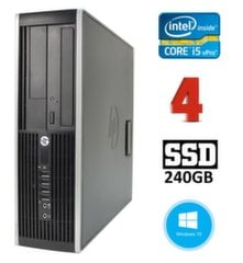 HP 8300 Elite SFF i5-3470 4GB 240SSD DVDRW WIN10Pro