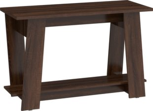Rašomasis stalas Via, tamsiai rudas kaina ir informacija | Kompiuteriniai, rašomieji stalai | pigu.lt