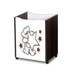 Žaislų dėžė Klupś Bear, balta/ruda kaina ir informacija | Vaiko kambario baldai | pigu.lt