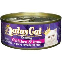 Konservai katėms Aatas CREAMY CHICKEN&TUNA, 80 g