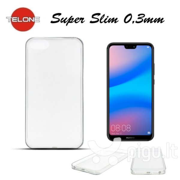 Telone Ultra Slim 0.3mm Back Case Huawei P20 Transparent