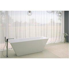 Akmens masės vonia Vispool Quadro 175, su sifonu ir persipylimu kaina ir informacija | Vonios | pigu.lt