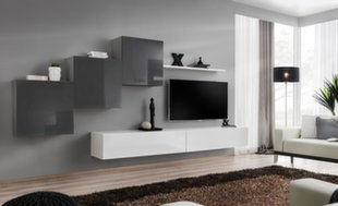 Sekcija Switch X, pilka/balta kaina ir informacija | Sekcijos | pigu.lt