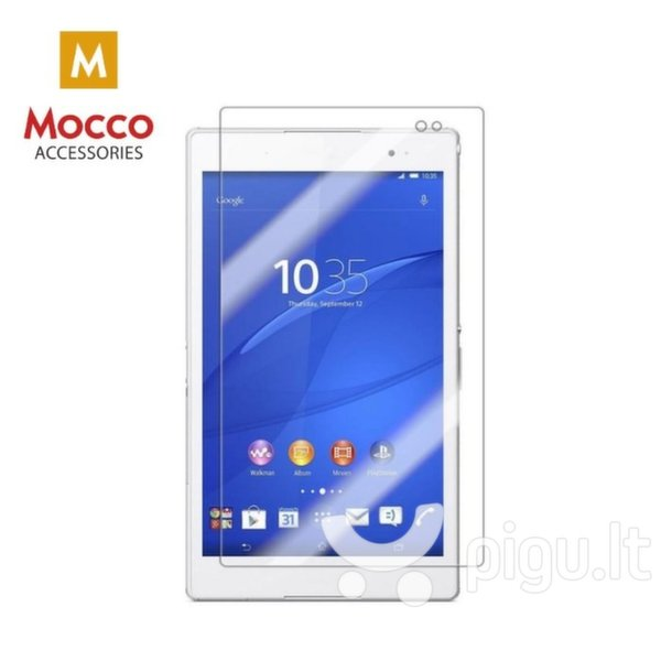 """Grūdinto stiklo ekrano apsaugaMocco Premium 9H, skirta Samsung Galaxy Tab 4 10.1"""" planšetiniam kompiuteriui, skaidri"""