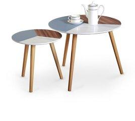 2-jų kavos staliukų komplektas Multi, spalvotas