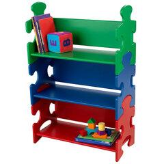 Vaikiška lentyna Puzzle Kidkraft, mėlyna/raudona/žalia kaina ir informacija | Vaiko kambario baldai | pigu.lt