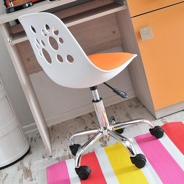 Vaikiška kėdė Foot balta/oranžinė