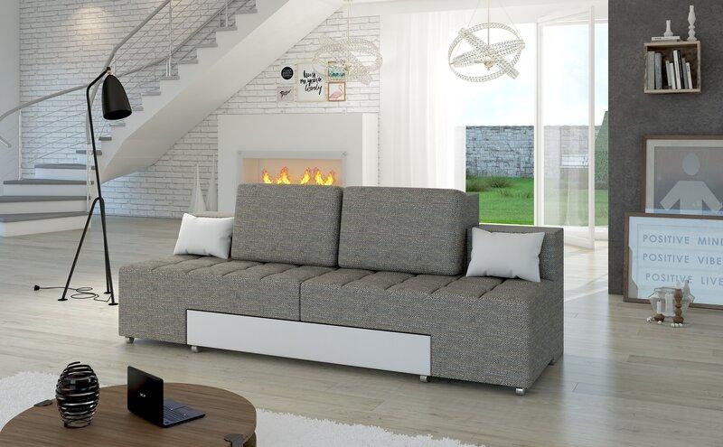 Sofa Alessia, pilka/balta