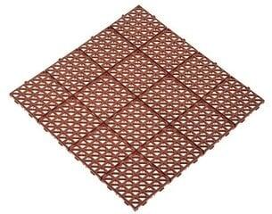 Plastikinė plytelė 33x33cm ruda
