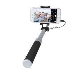 Asmenukių lazda Forever JMP-200 Mini Selfie Stick with Remote Button and 3.5 mm Cable Black