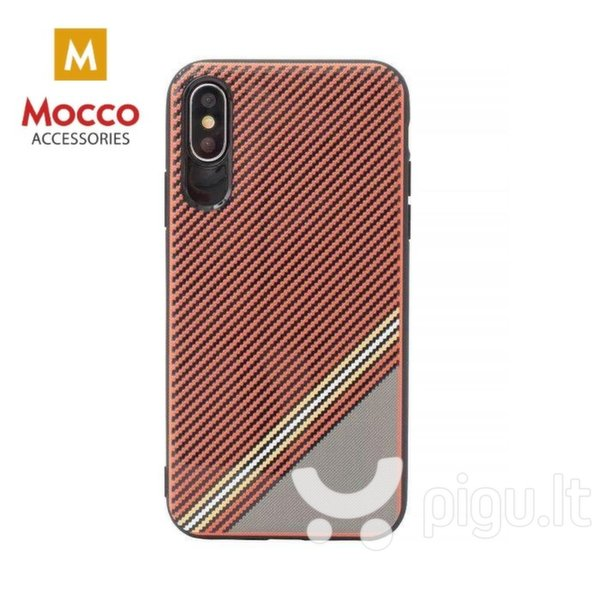 Apsauginis dėklas Mocco Trendy Grid And Stripes Silicone Back Case Apple iPhone 7 Plus / 8 Plus Red (Pattern 1)