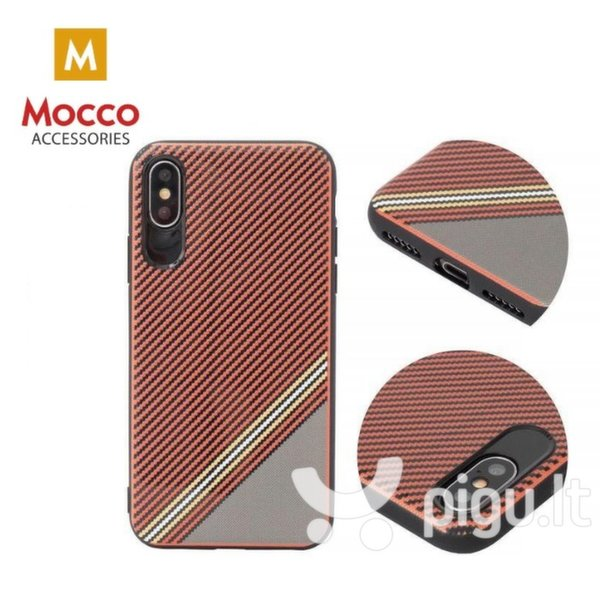 Apsauginis dėklas Mocco Trendy Grid And Stripes Silicone Back Case Apple iPhone 7 Plus / 8 Plus Red (Pattern 1) internetu