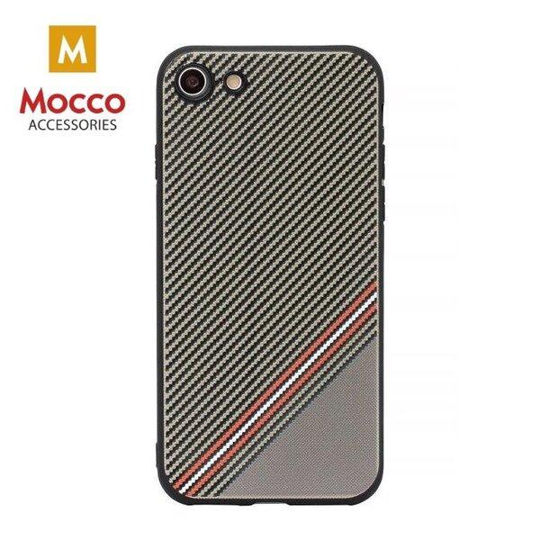 Mocco Trendy Grid And Stripes Силиконовый чехол для Apple iPhone X Коричневый (Pattern 1)